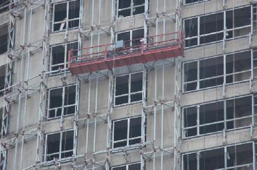 7.5m Aluminium hängte Seilplattform 1000kg mit einphasiger Gondelplattform
