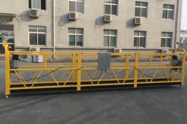 lackiertes Aluminium hängte Drahtseilplattform 500kg / 630kg / 800kg / 1000kg auf